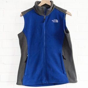 The North Face Full Zip Fleece Vest Blue Gray